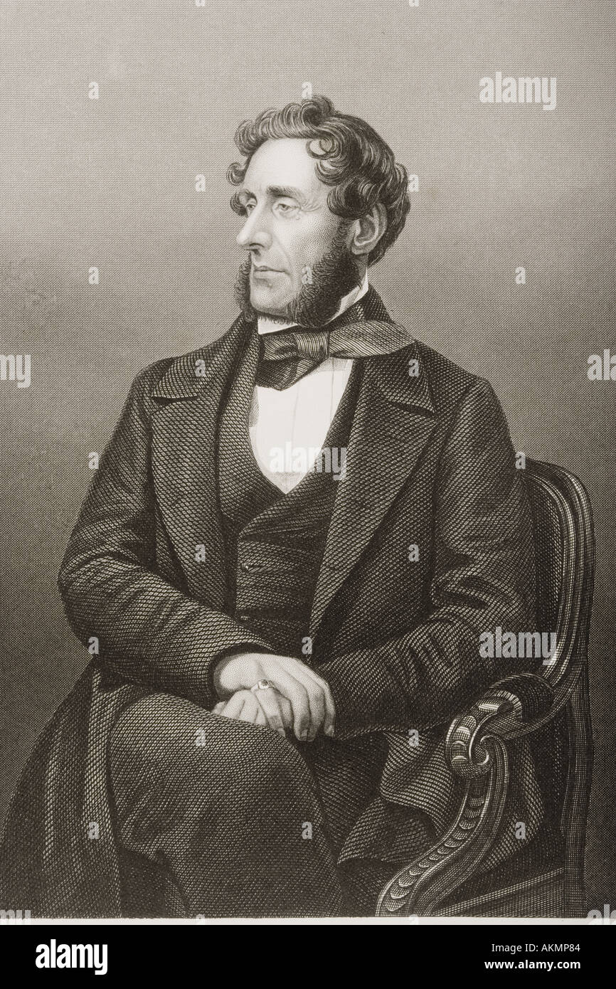 Anthony Ashley Cooper, 7th Earl of Shaftesbury, aka Lord Ashley,1801 - 1885.   British politician, philanthropist and social reformer. - Stock Image