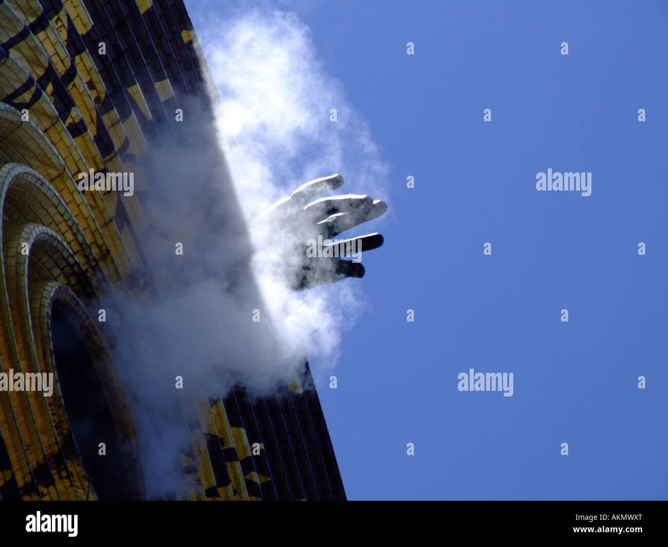 Metronome sculpture, Union Square, New York City - Stock Image