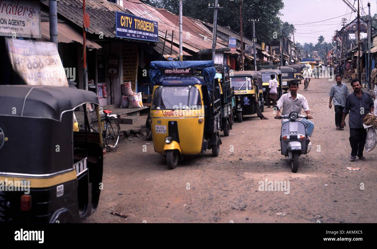 Auto Rickshaw For Rent In Trivandrum: India Kerala State Trivandrum Thiruvananthapuram Stock
