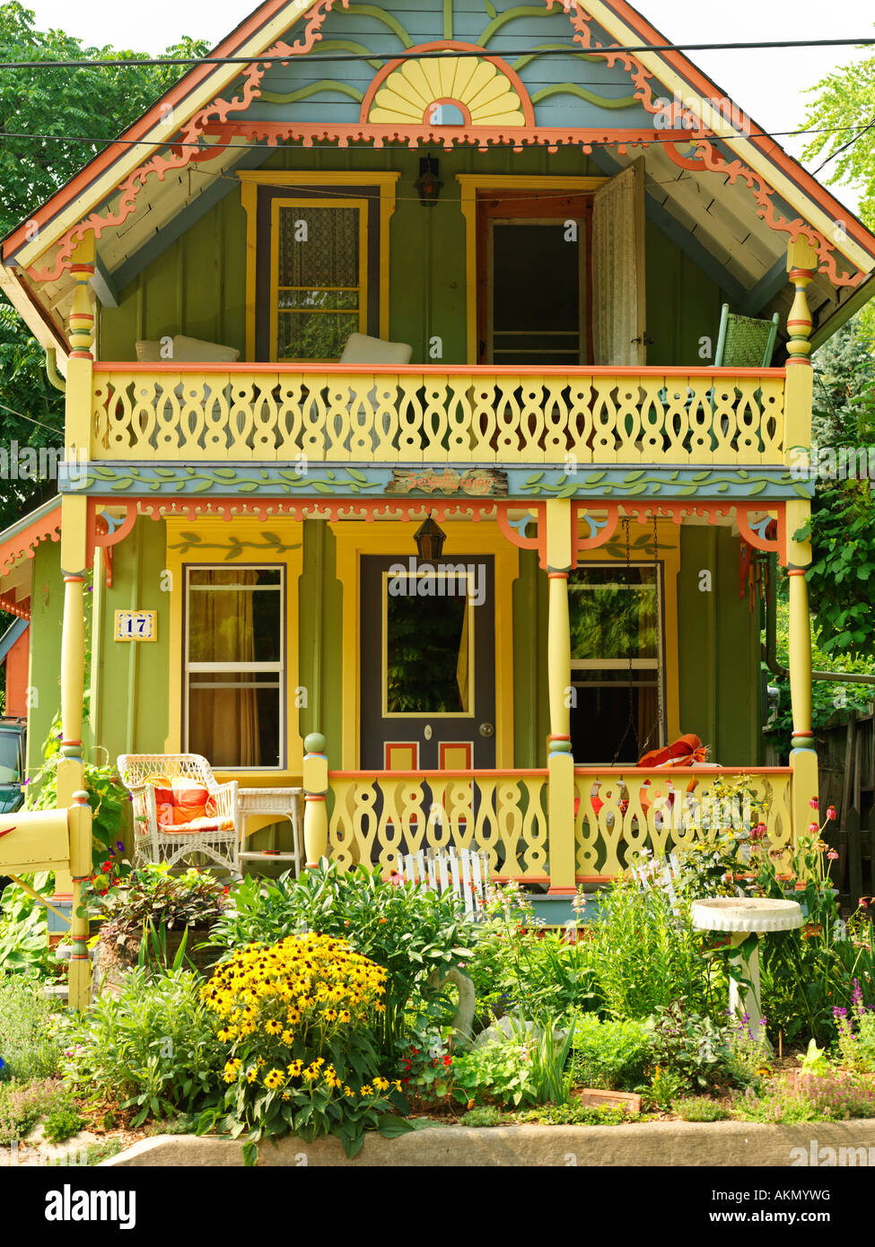 Canada,Ontario,Grimsby,Grimsby Park,Seagull Cottage built late 1800's Victorian style home one of the original - Stock Image