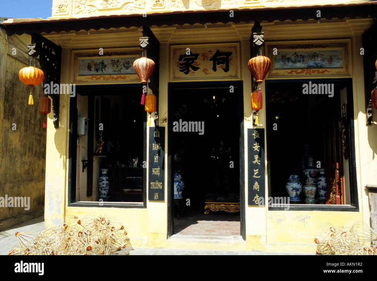 Traditional shophouse in Tran Phu St, Hoi An, Viet Nam - Stock Image