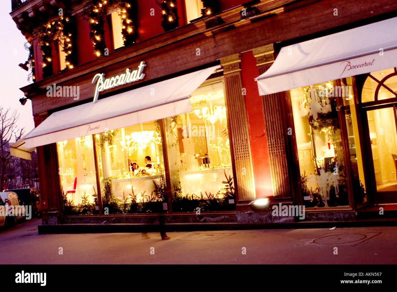 paris france stores luxury baccarat crystal place de la madeleine stock photo 2790758 alamy. Black Bedroom Furniture Sets. Home Design Ideas
