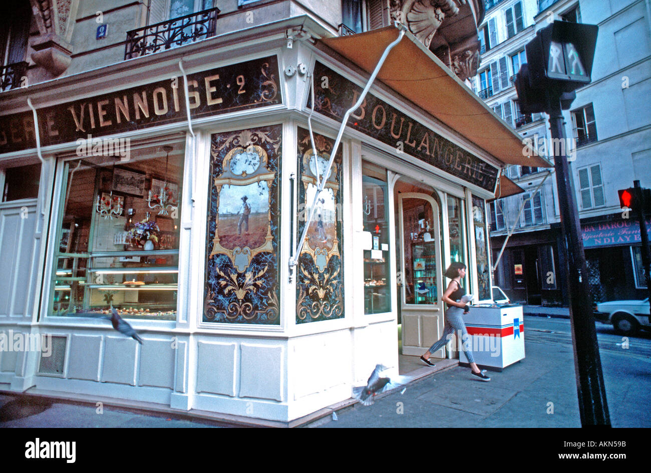 Old French Bakery Shop Paris France Boulangerie Patisserie Exterior Storefront Vintage Signs