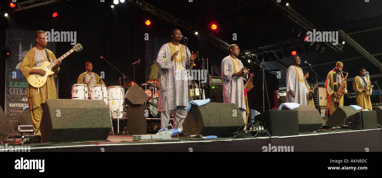 Orchestra Baobab playing at the Cambridge Folk Festival in 2003 - Stock Image