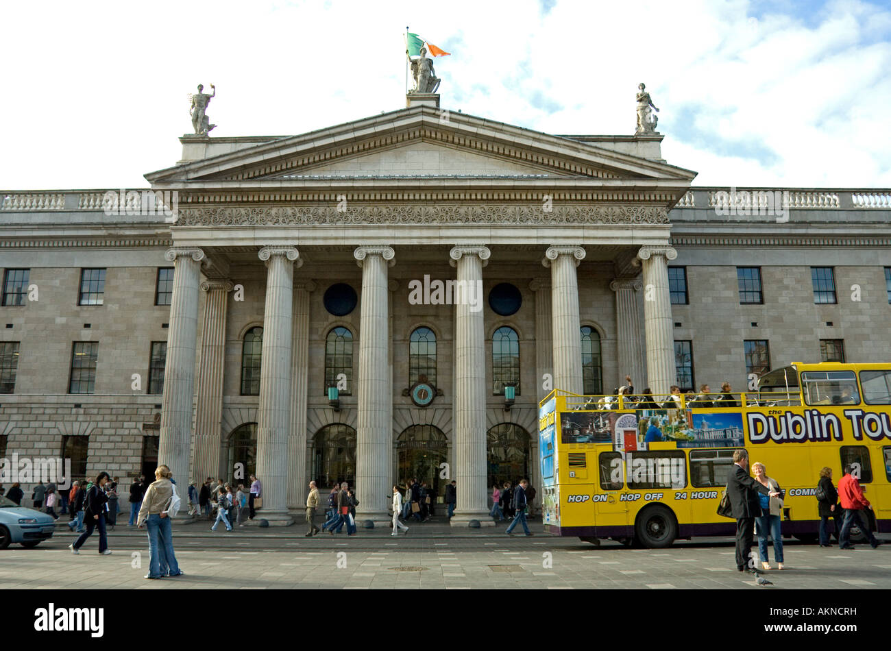 The portico of the GPO General Post Office on O Connell St Dublin Ireland Stock Photo