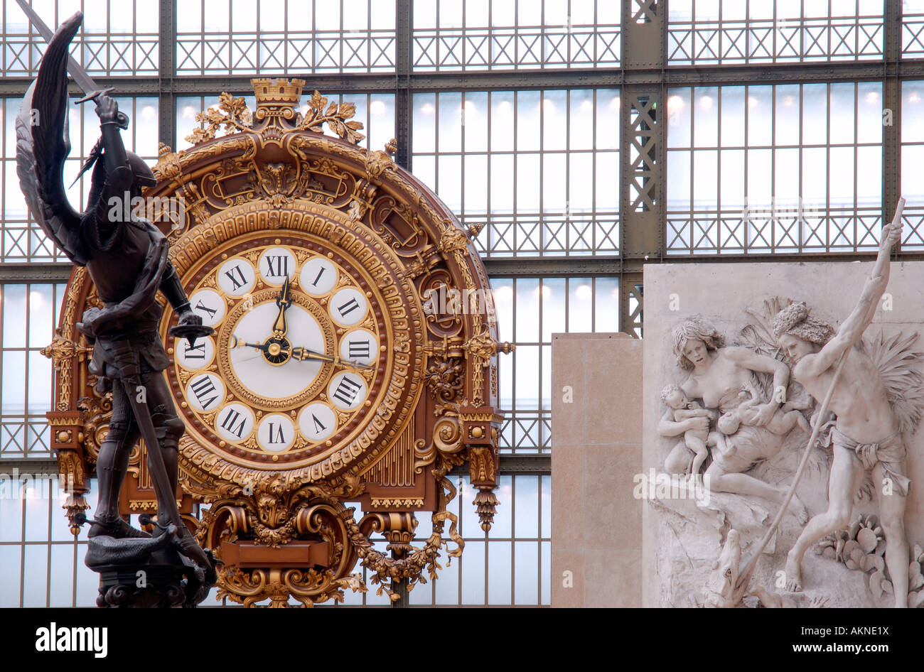 France, Paris, Orsay museum, interieur - Stock Image