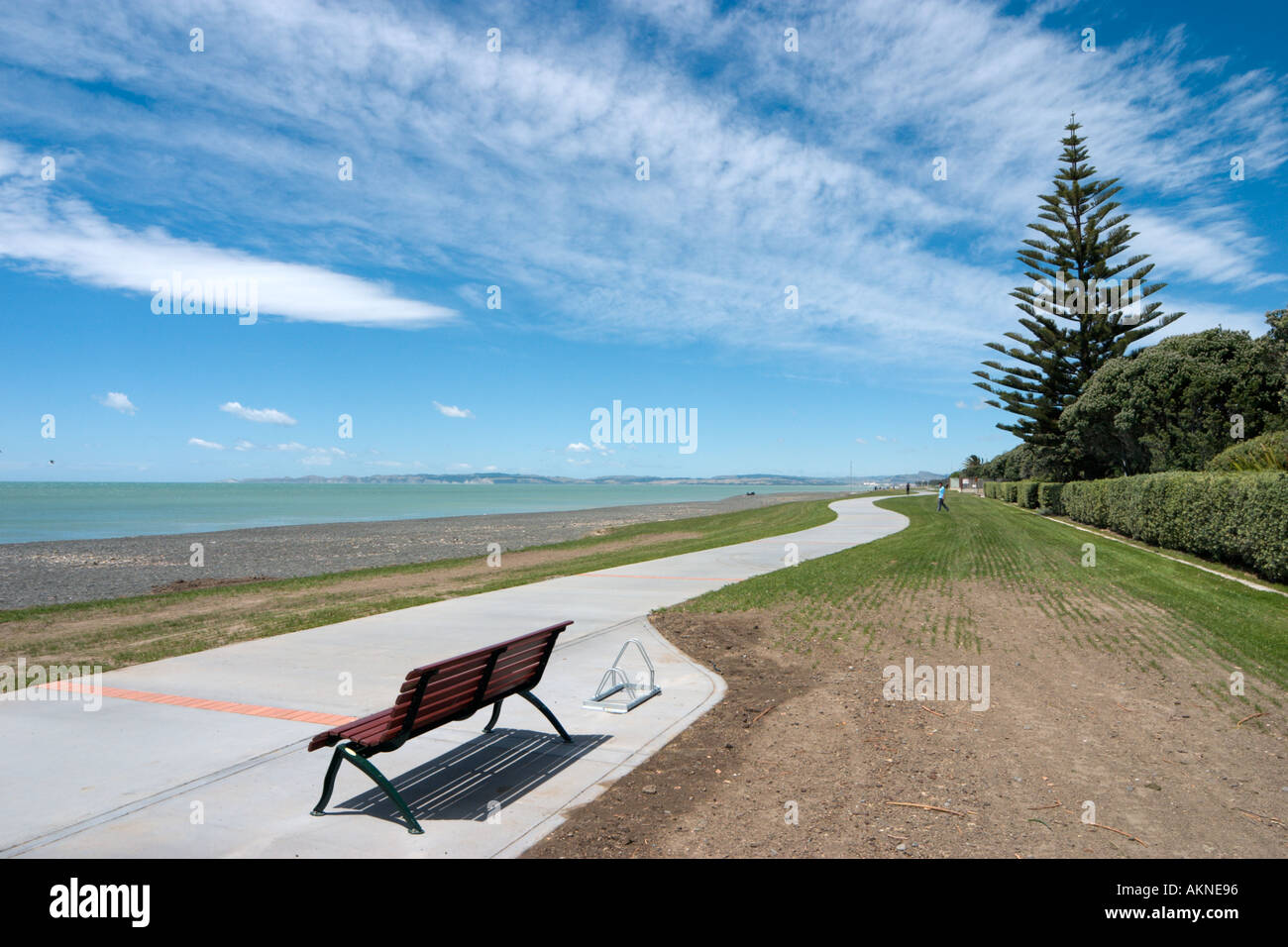 Seafront at Napier, North Island, New Zealand Stock Photo