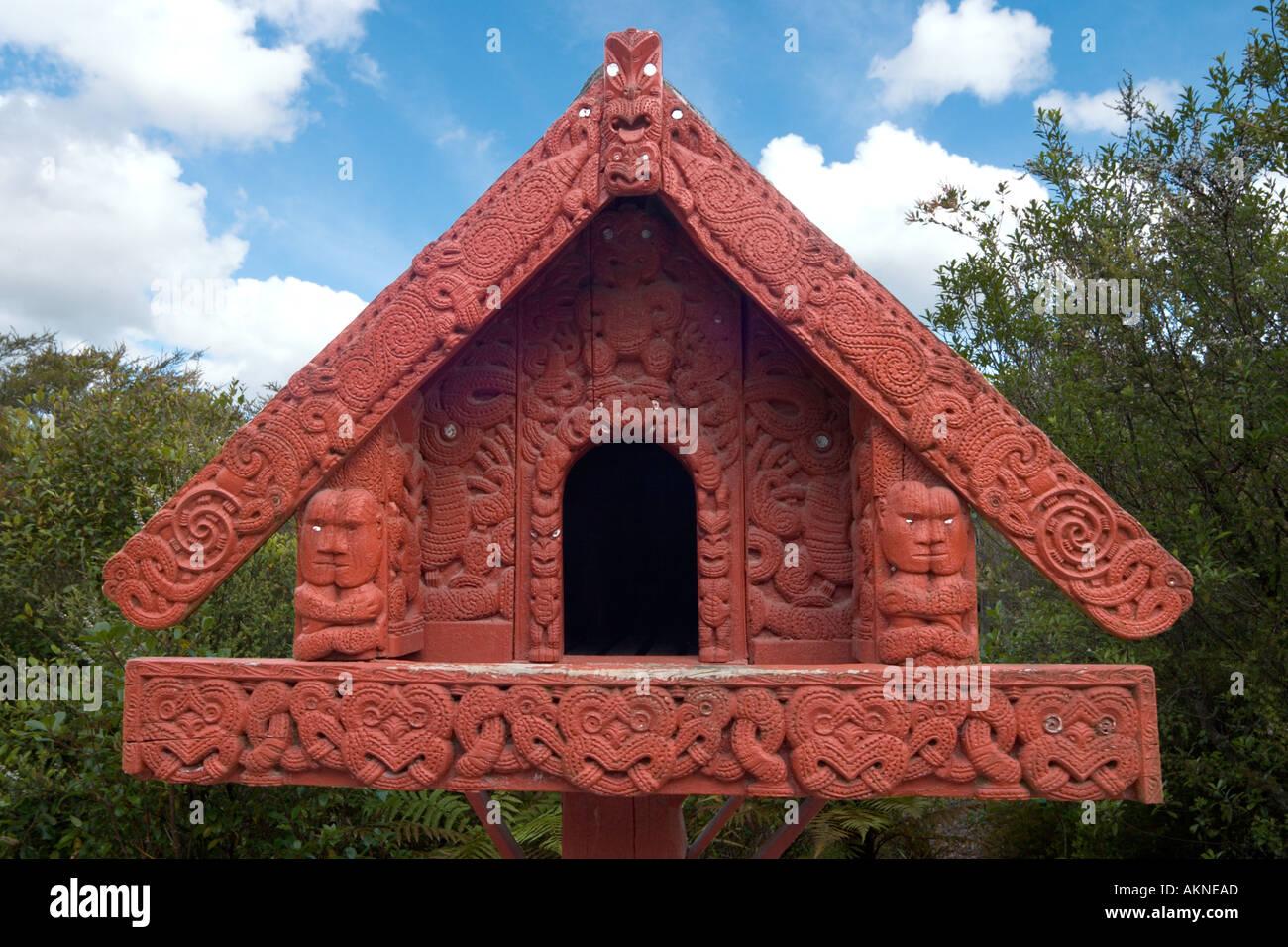 Maori Arts and Crafts Institute, Whakarewarewa, Rotorua, North Island, New Zealand - Stock Image