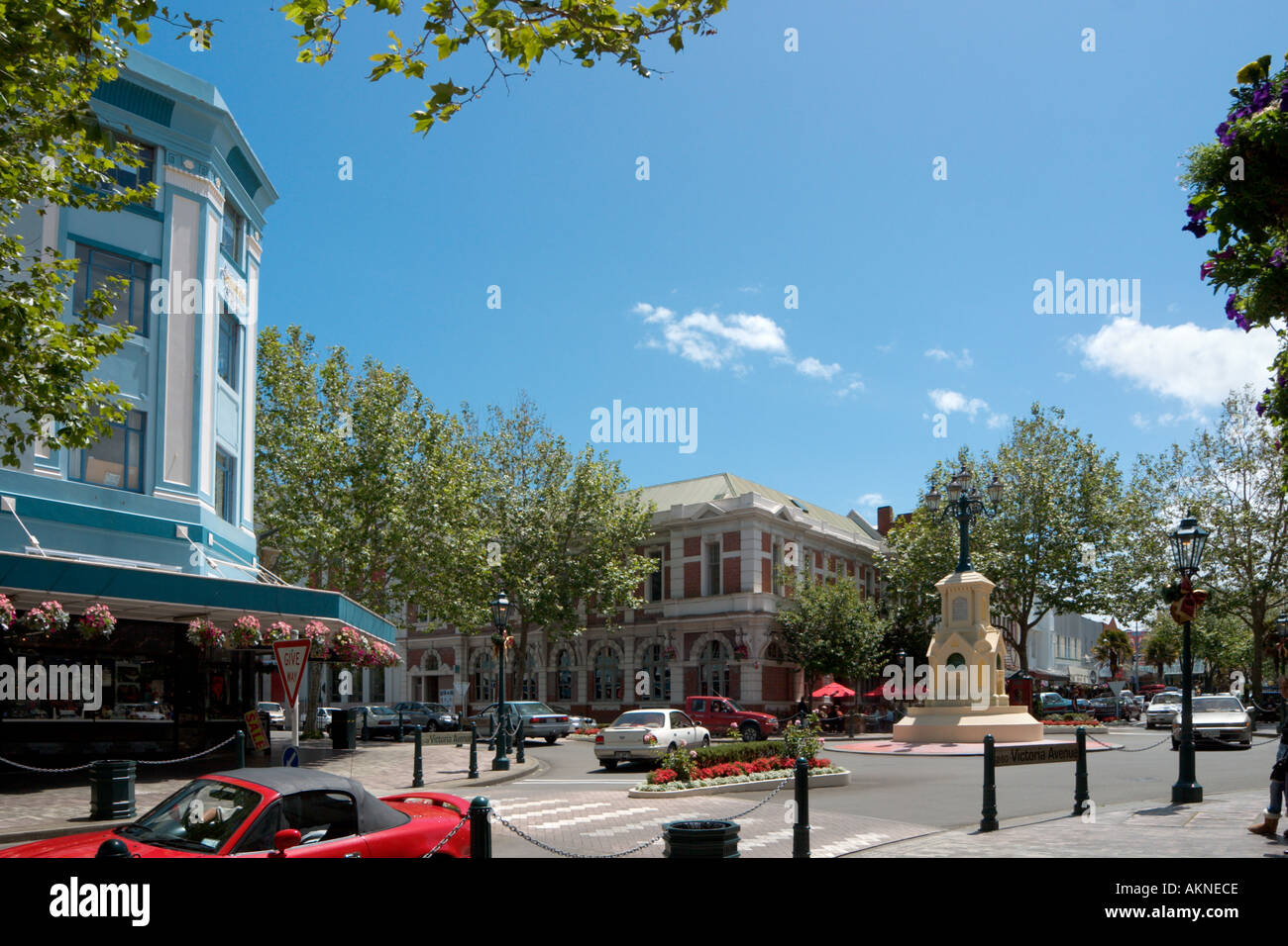 Victora Avenue in the town centre of Wanganui, North Island, New Zealand - Stock Image