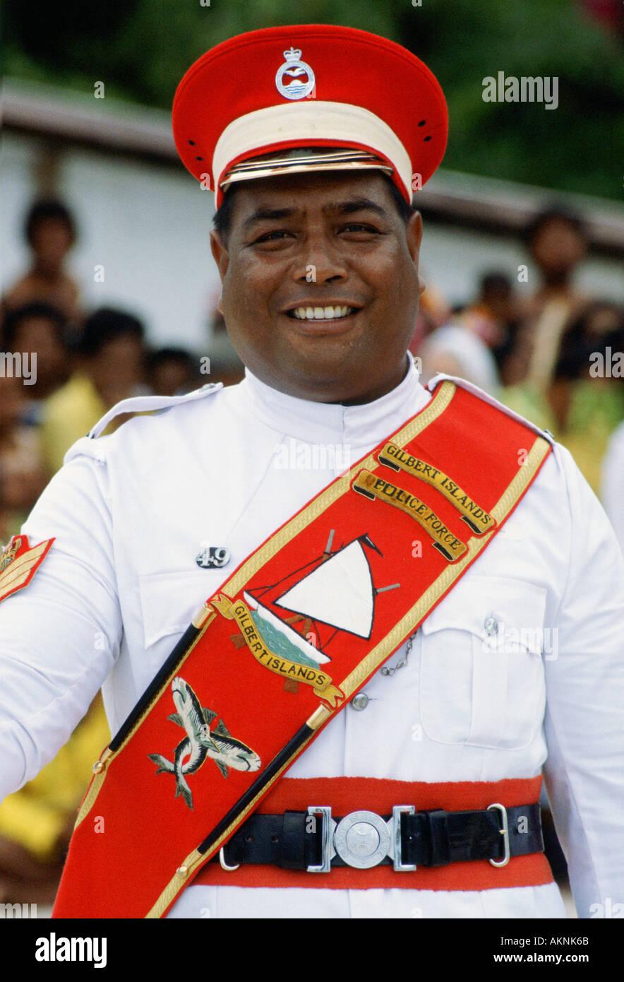 Kiribati policeman Kiribati - Stock Image