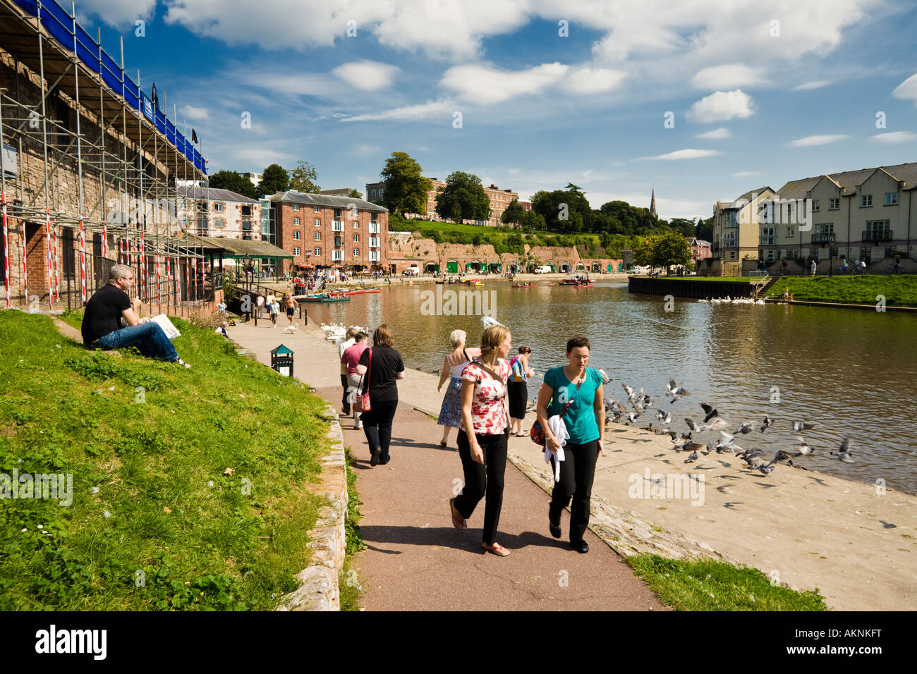 Warehouse apartments being converted at Exeter Quay Exeter Devon UK - Stock Image