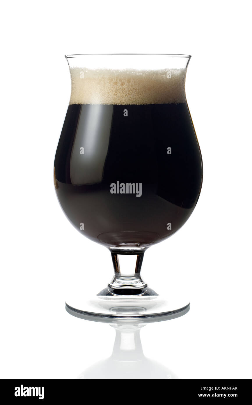 Dark beer - Stock Image