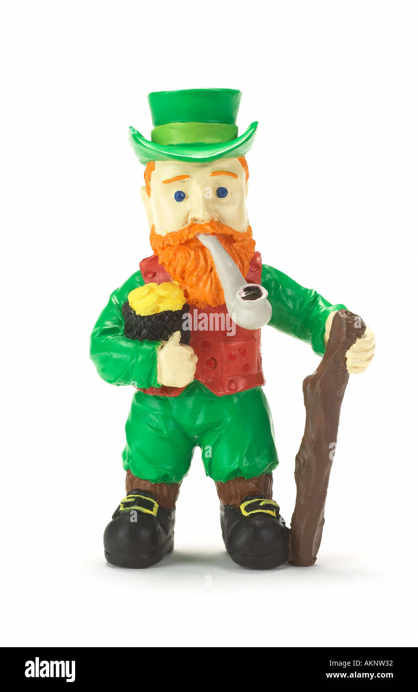 A Toy Irish Leprechaun Stock Photo