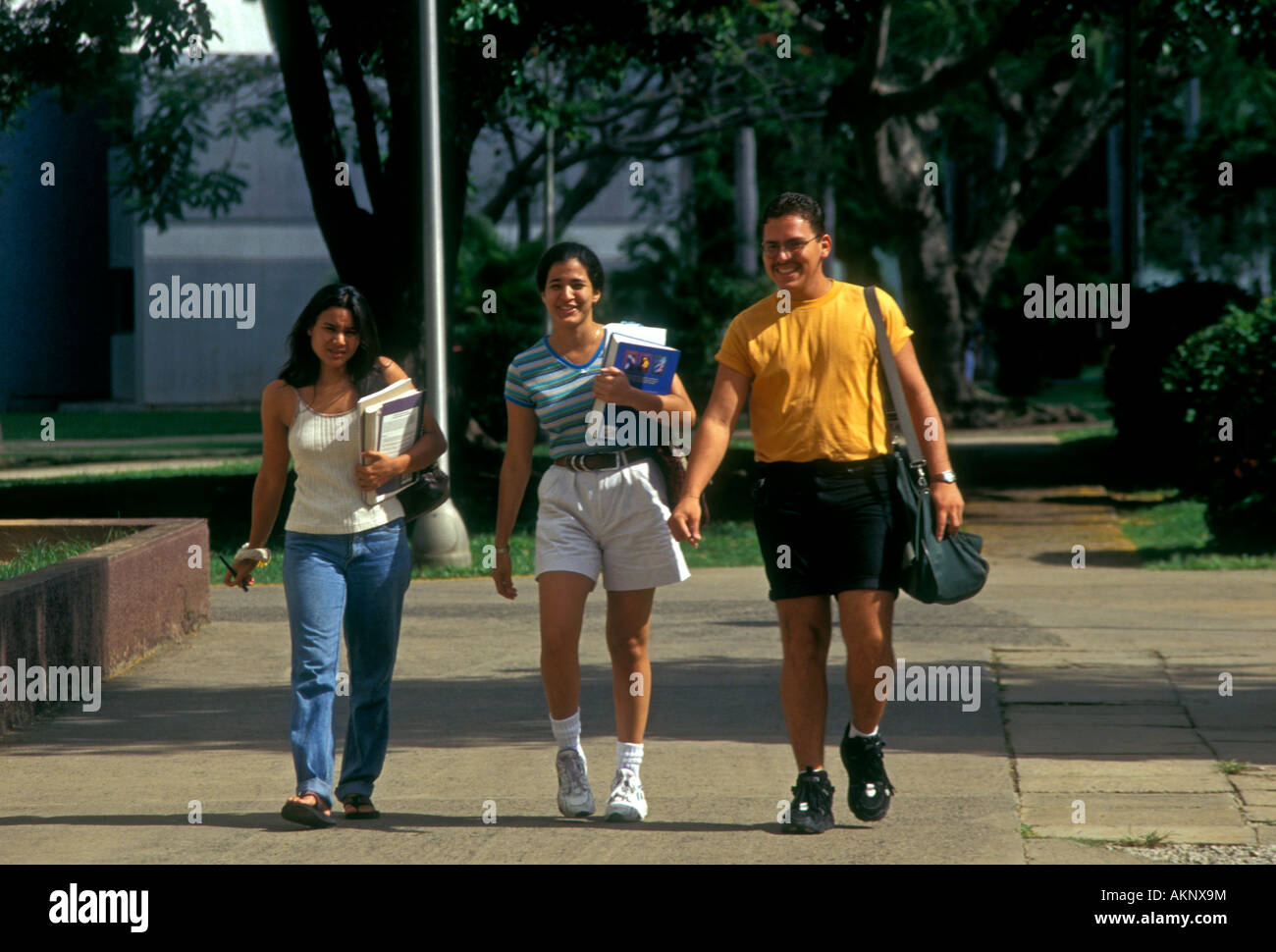 3, Puerto Ricans, Puerto Rican students, college students, university students, students, campus, University of - Stock Image