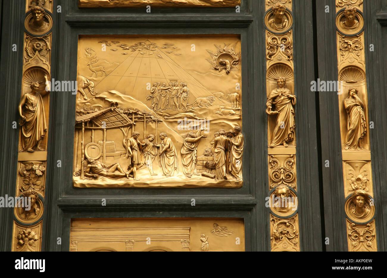 Doors of paradise  Baptistery Florence  Noahs Ark  & Doors of paradise