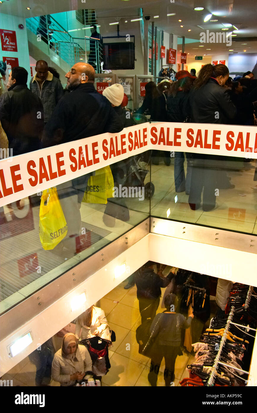 SALE shop shopping buy buying commercialism retail therapy consumer consumerism customer - Stock Image