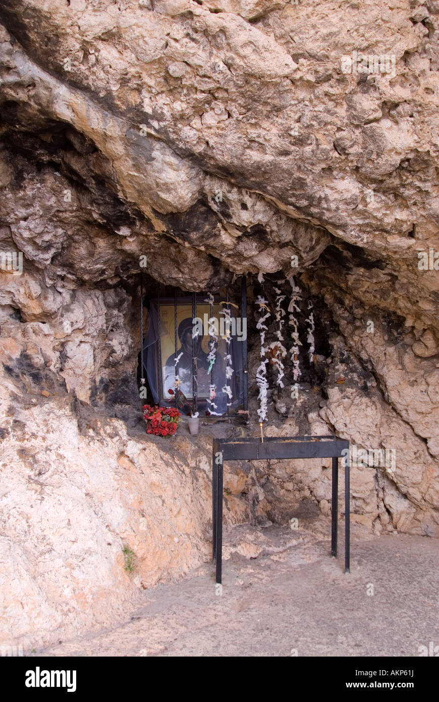 Shrine in the Miraculous Virgin Mary Church - Stock Image