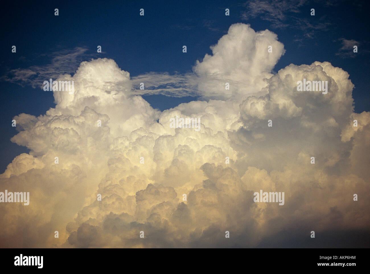 Cumulus congestus clouds USA - Stock Image