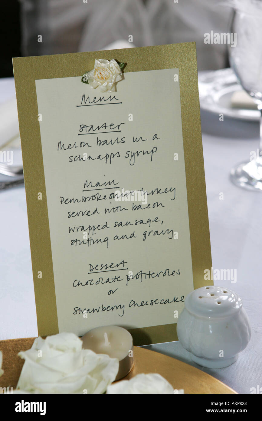 Closeup Detail Of A Wedding Reception Breakfast Table Decoration