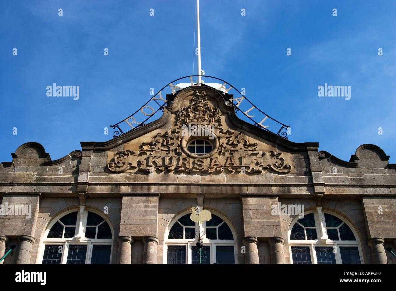 Harrogate Royal Hall or Kursaal 1903 by Frank Matcham and his architect Arthur Beale North Yorkshire England - Stock Image