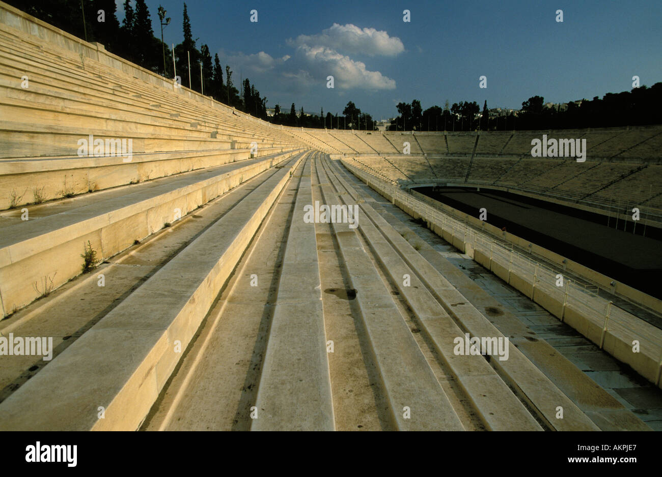 Athens old Olympic Stadion - Stock Image