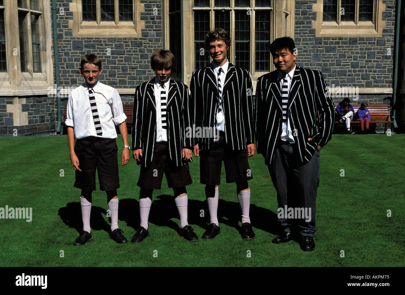 Christchurch students from exclusive college - Stock Image