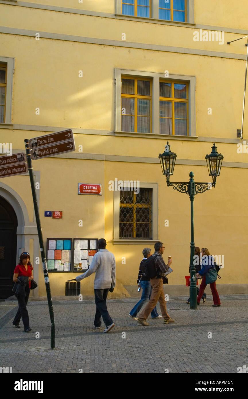 e6f890dfa48d Celetna pedestrian street Stare Mesto central Prague Czech Republic EU -  Stock Image