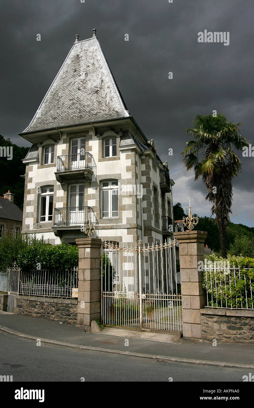 Typical French House Pontrieux Brittany France Europe Haunted
