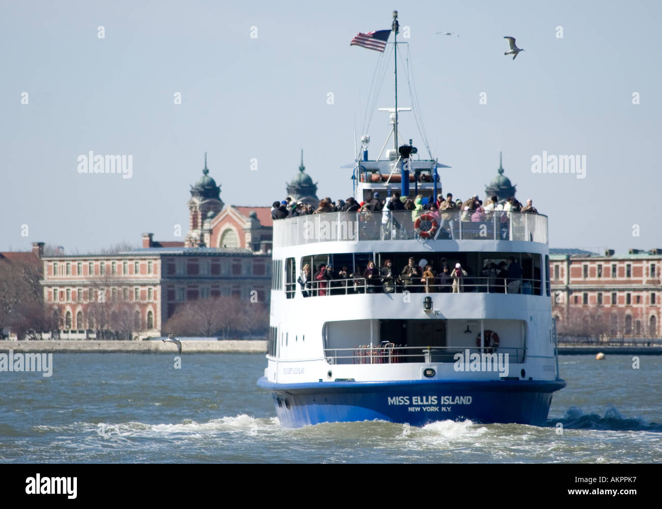 Ellis Island ferry - Stock Image