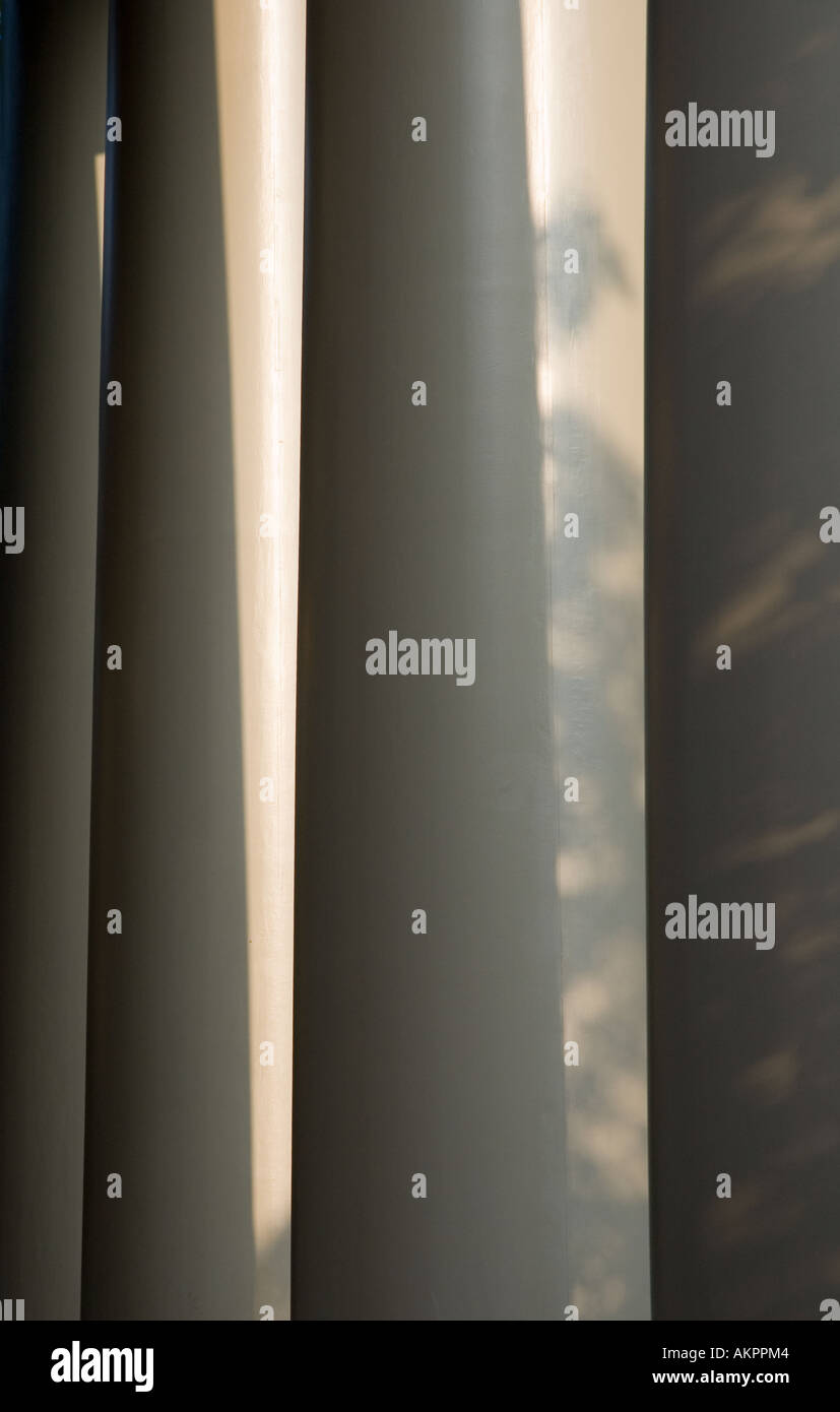 Close-up of the pillars at Memorial Church at Harvard University in Cambridge Massachusetts - Stock Image