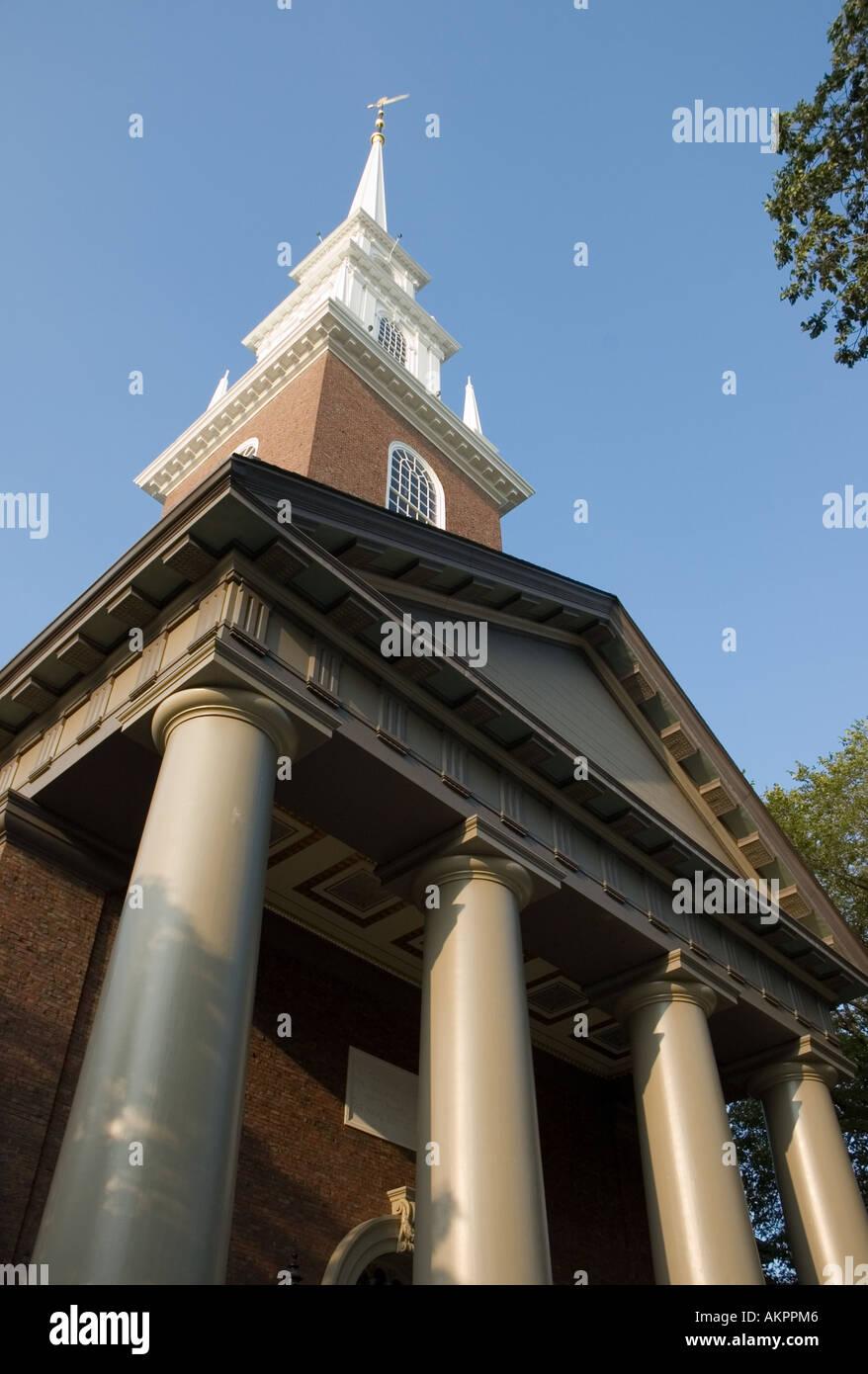 Memorial Church at Harvard University in Cambridge Massachusetts - Stock Image