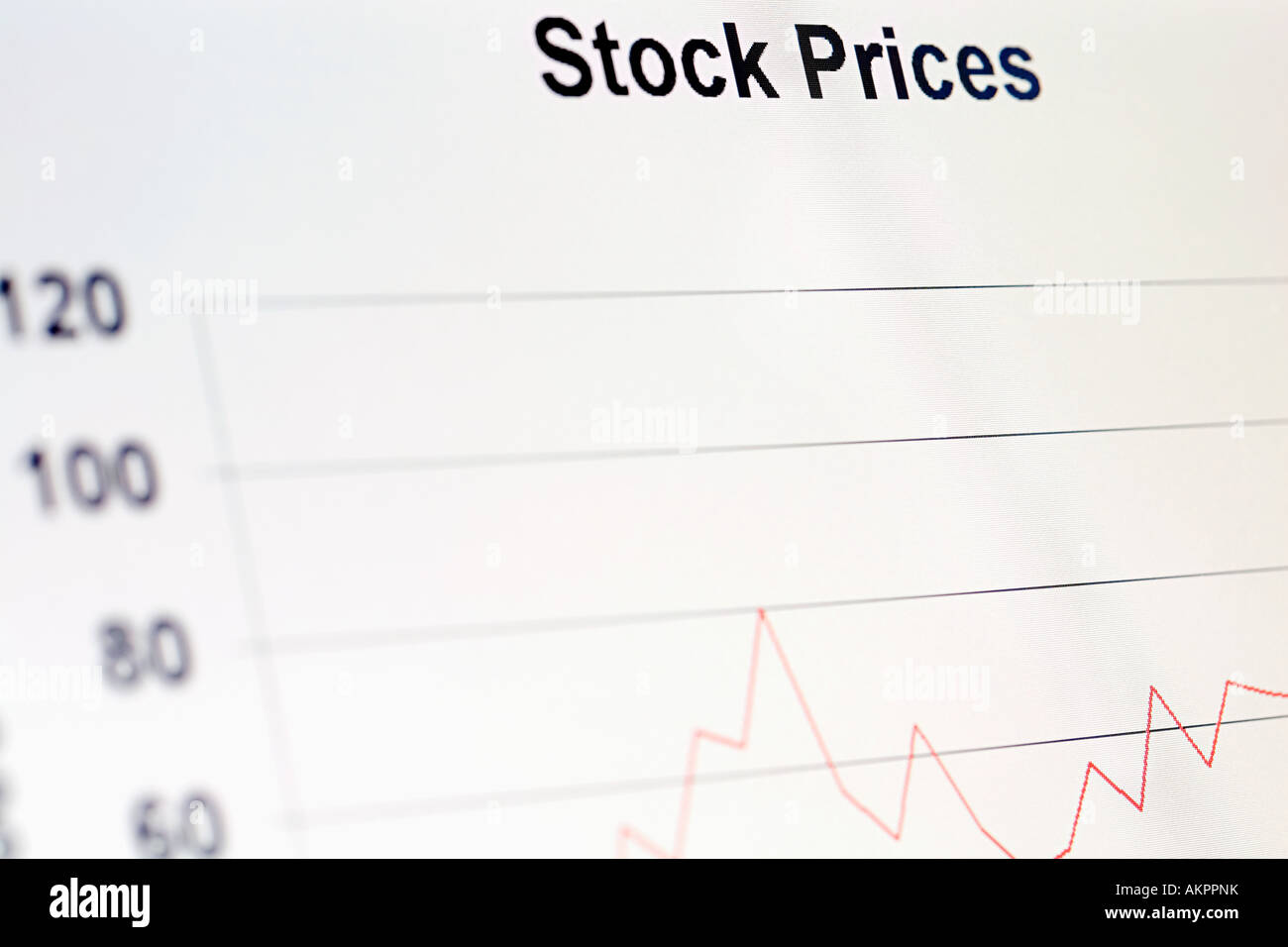 A graph - Stock Image