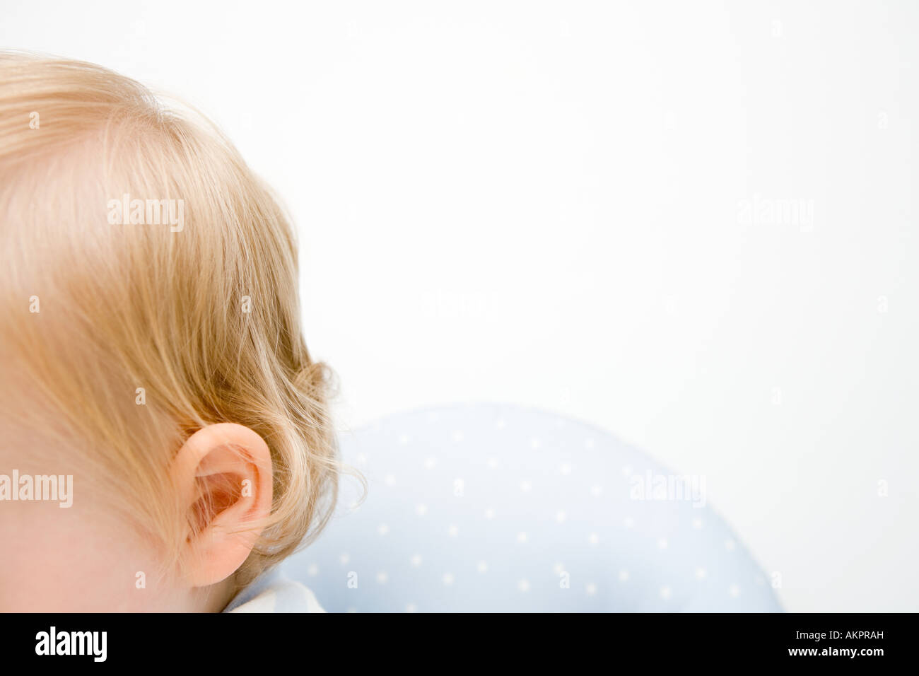 A babys head - Stock Image