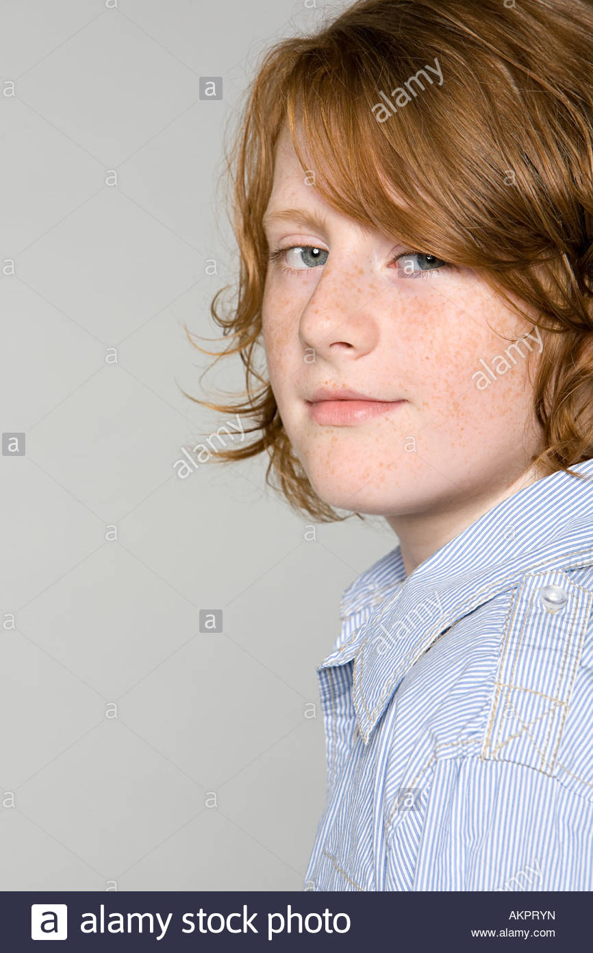 Portrait of a teenage boy - Stock Image