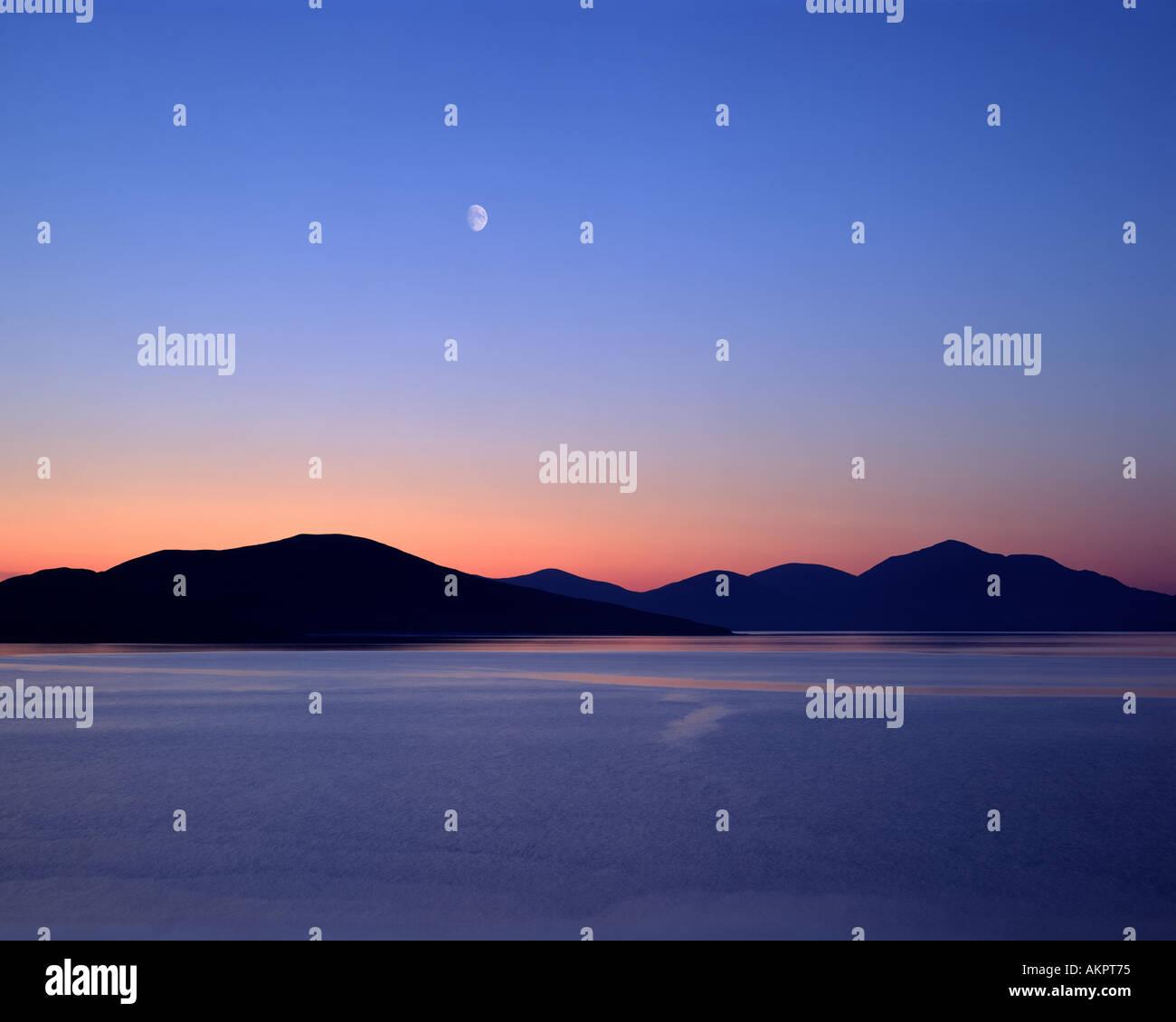 GB - WESTERN ISLES: Sound of Taransay seen from Isle of Harris - Stock Image
