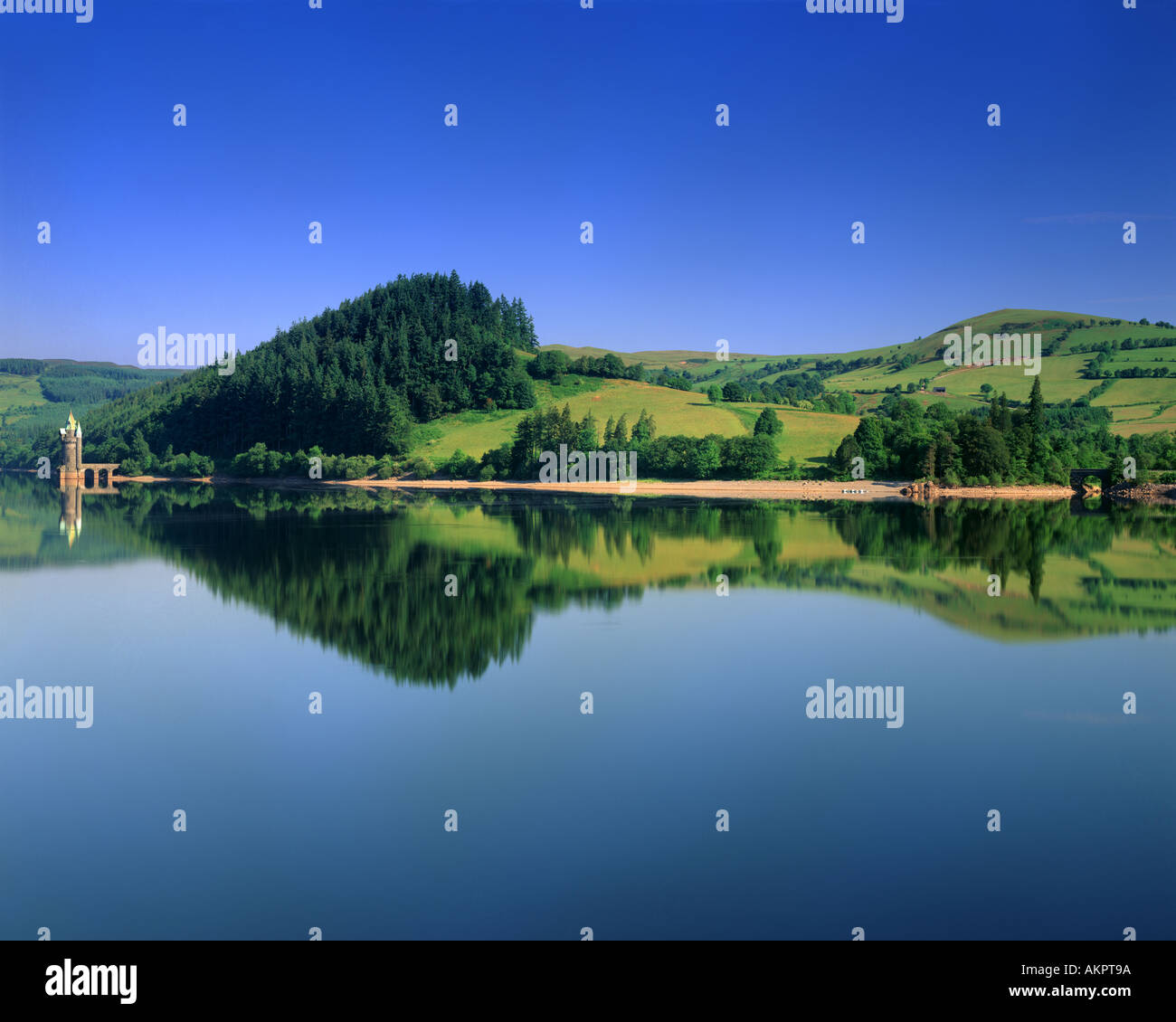 GB - WALES: Lake Vyrnwy - Stock Image