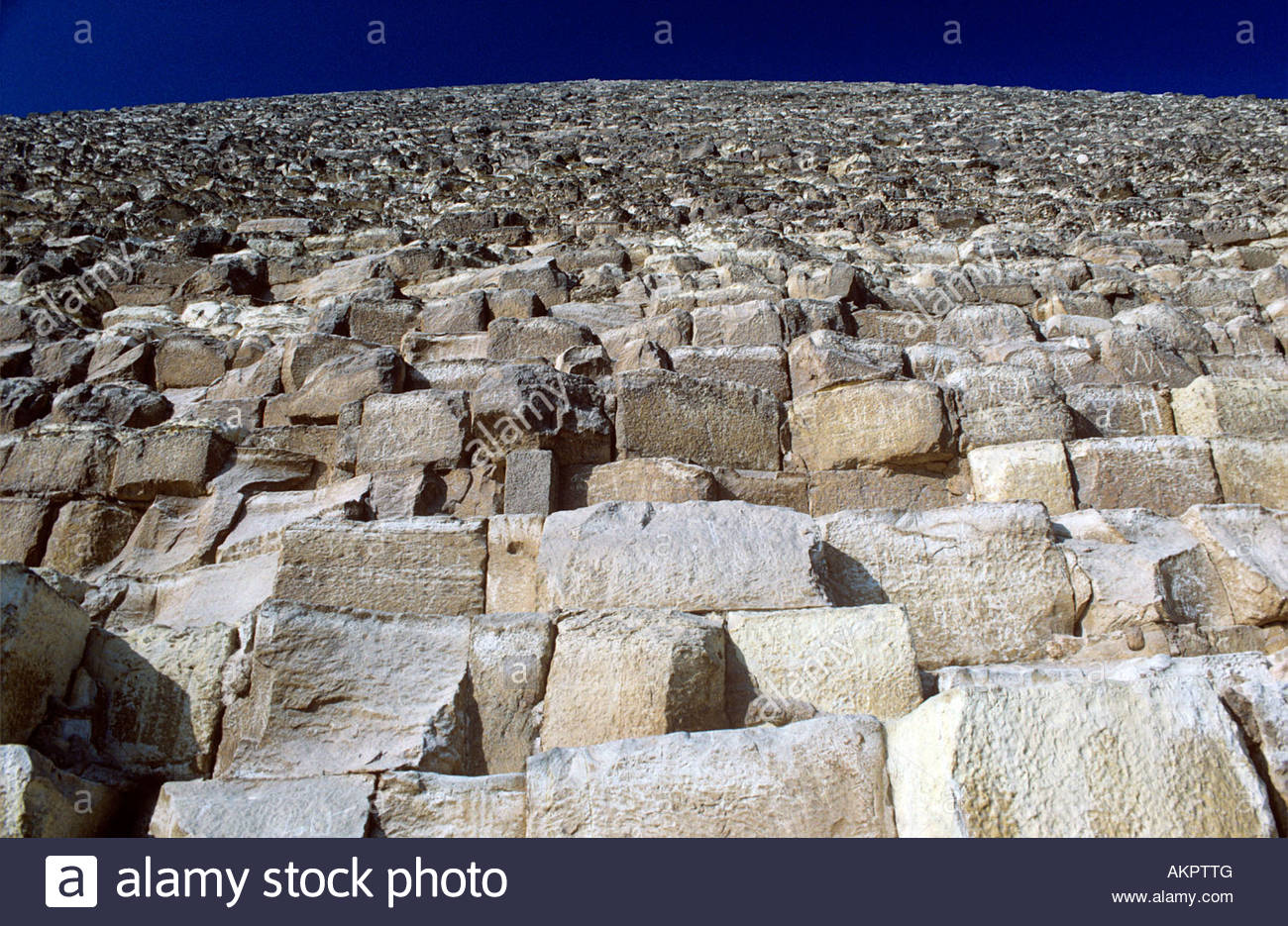 Low angle view of kheops pyramid - Stock Image