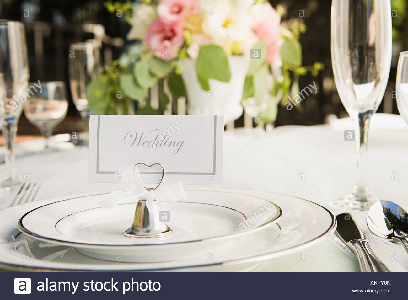 Place setting at a wedding - Stock Image & Wedding Table Settings Stock Photos \u0026 Wedding Table Settings Stock ...