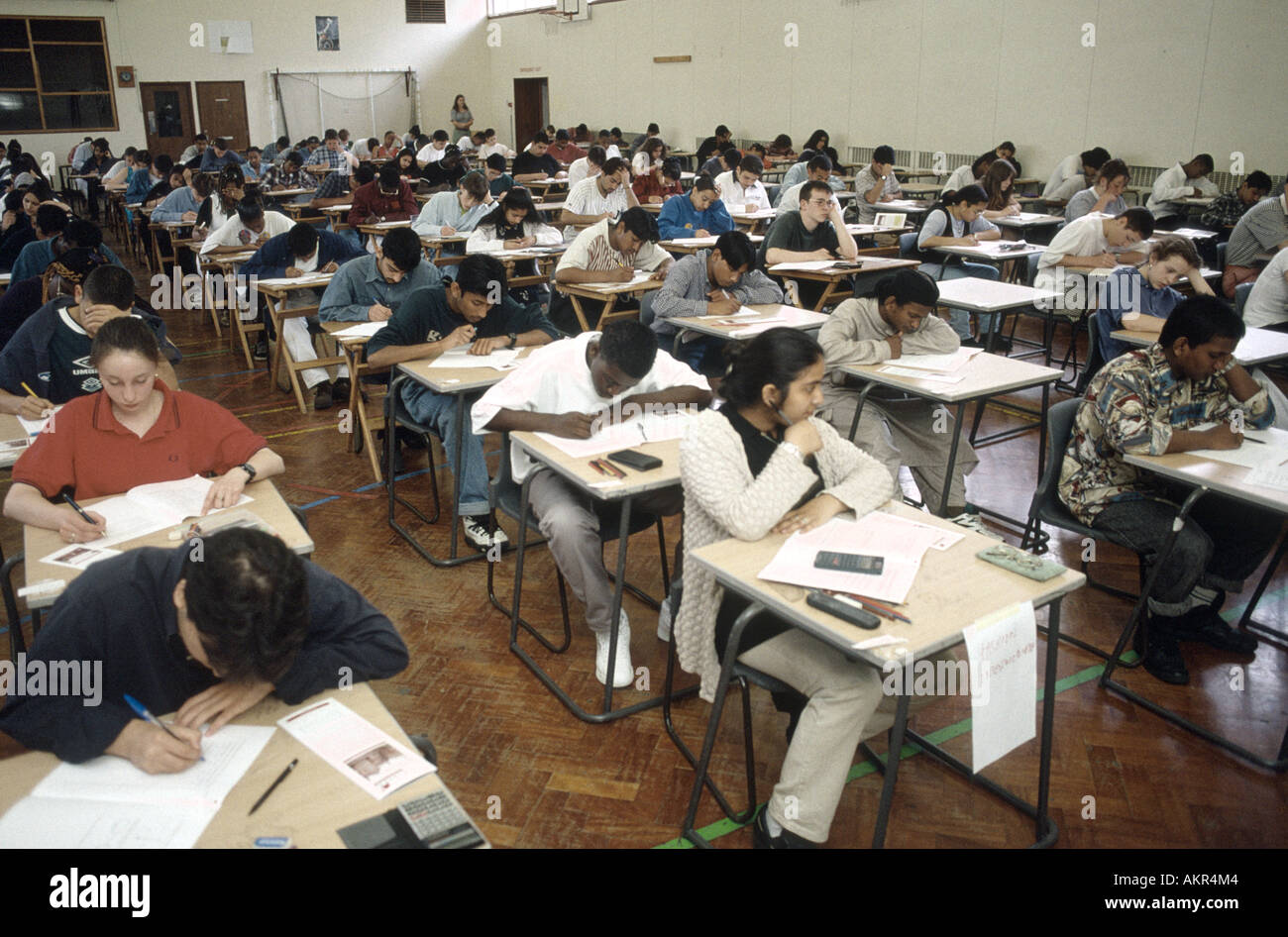 A-Level exams - Stock Image