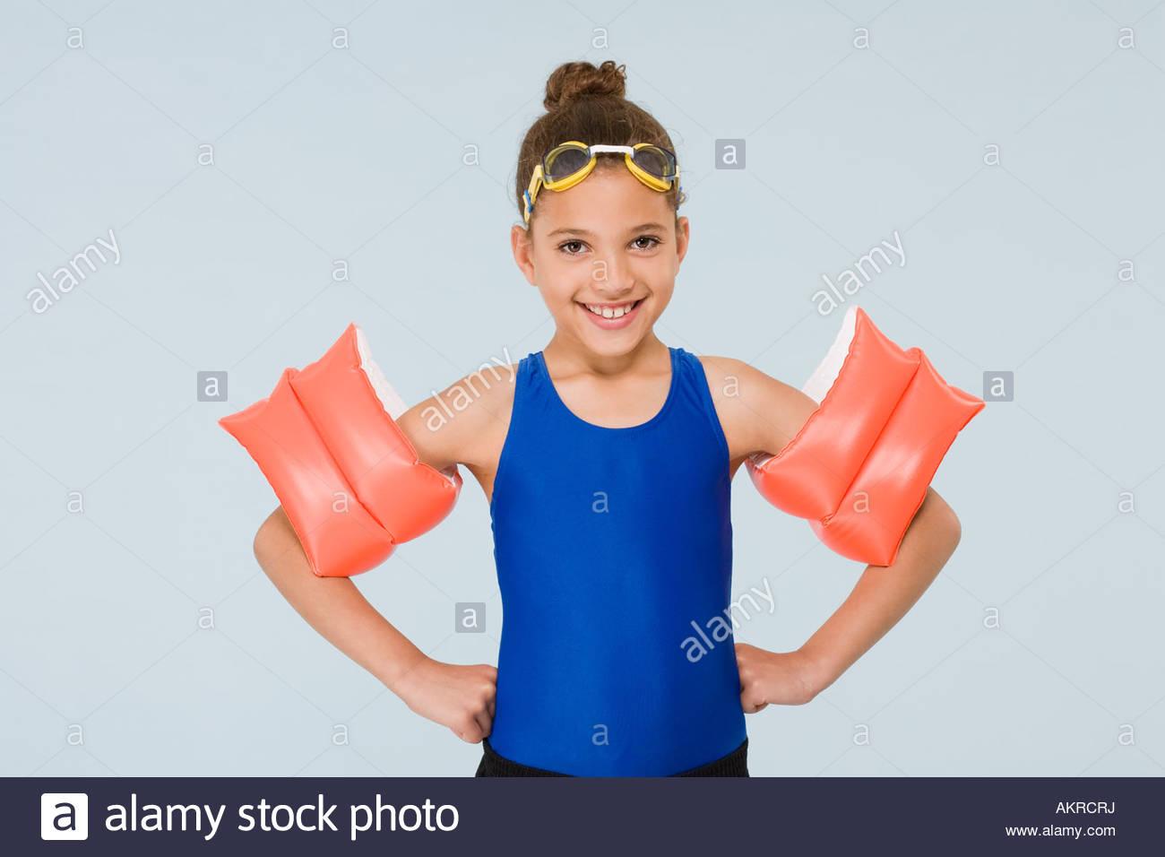 Girl swimmer - Stock Image