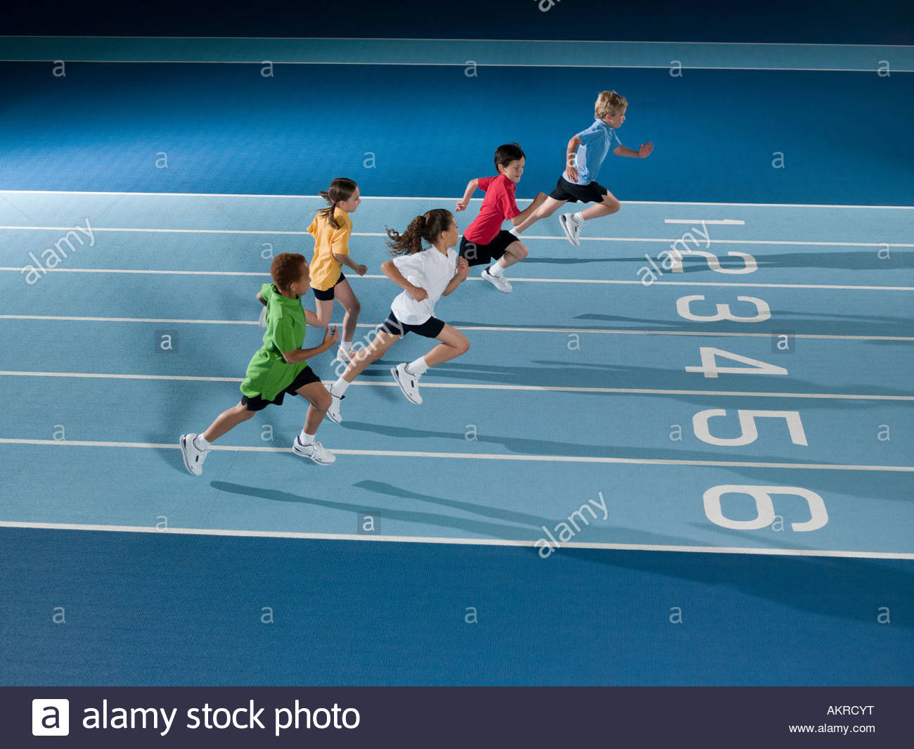 Children running in race - Stock Image