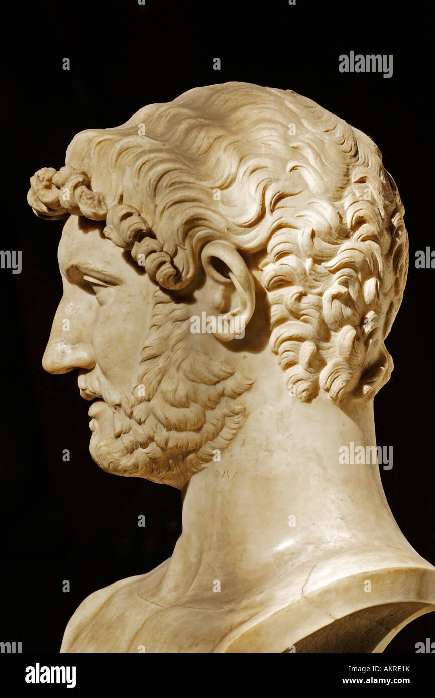 Statue of Adriano, Vatican Museum, Italy - Stock Image