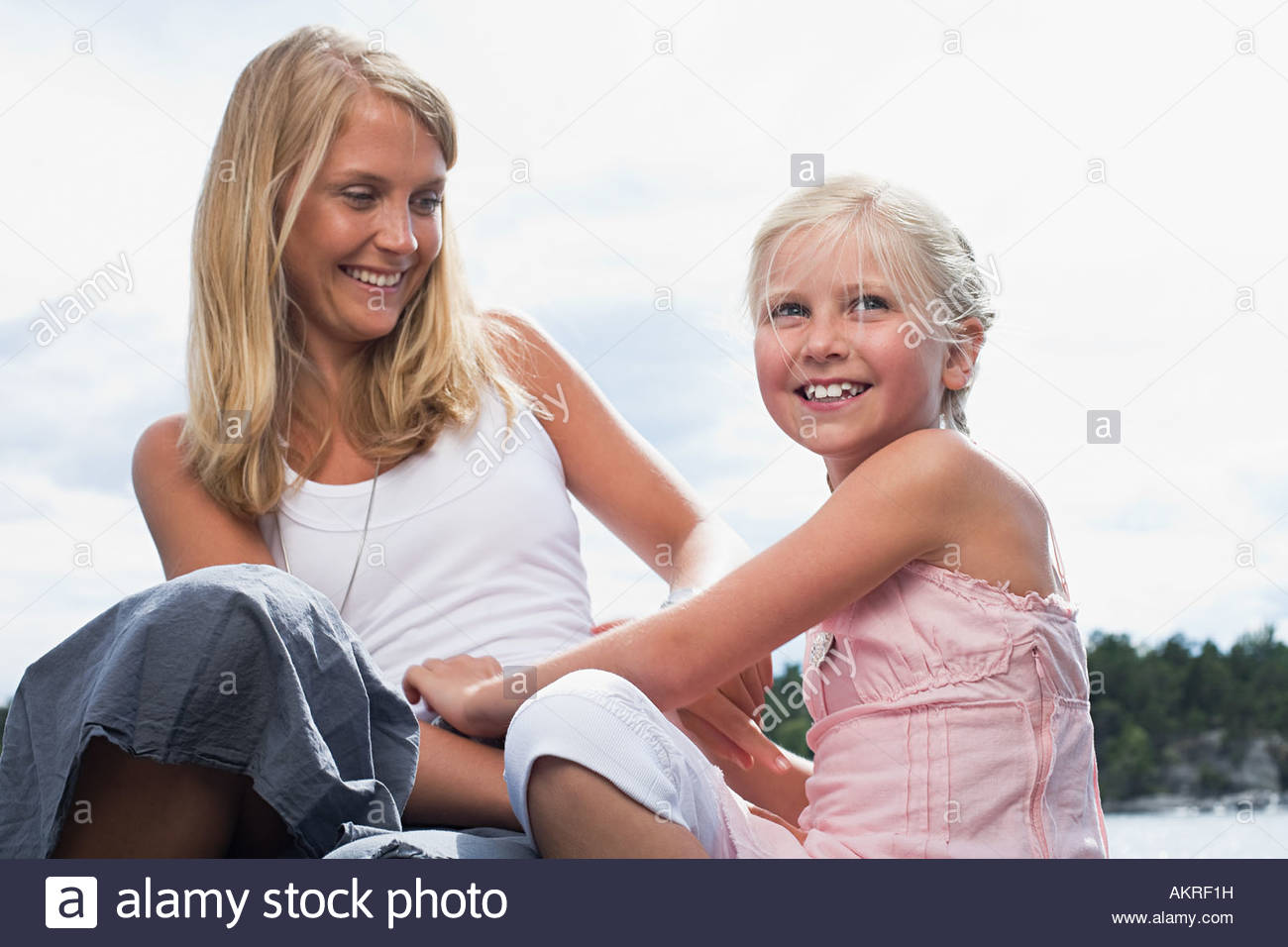 Portrait of a mother - Stock Image