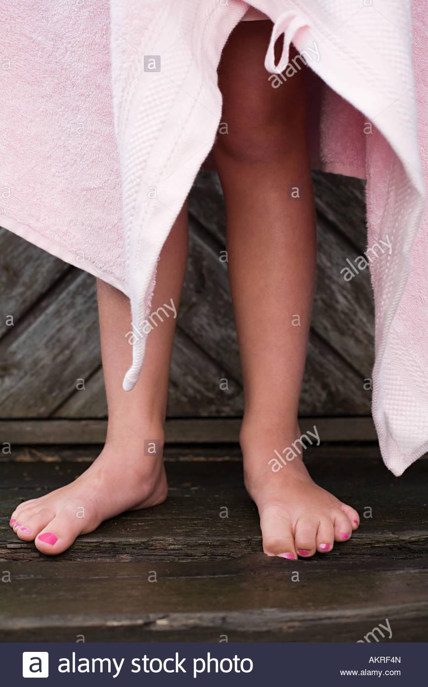 A girls legs - Stock Image