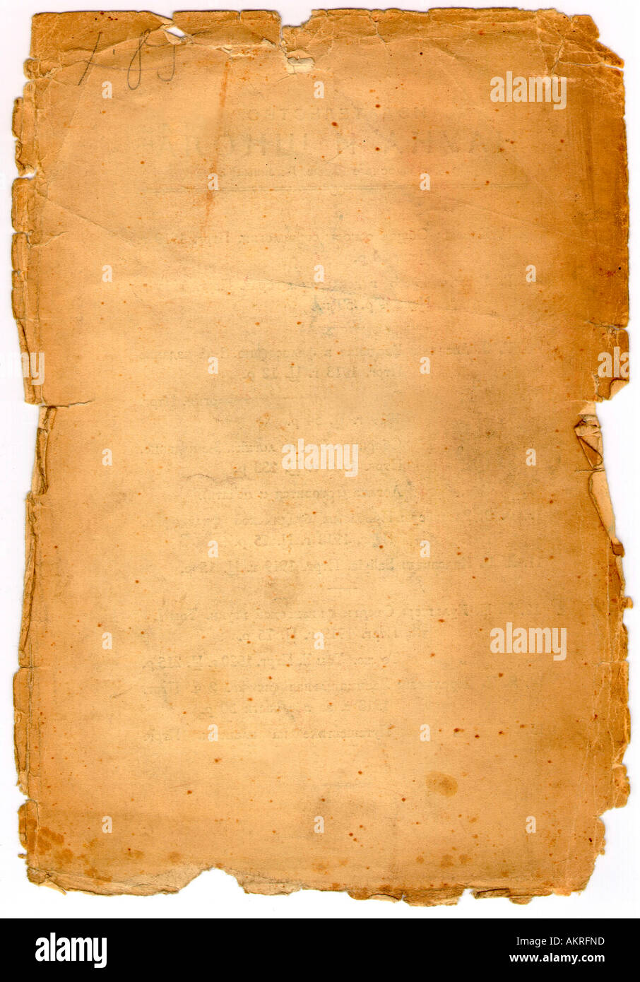 Blank Old Paper Background - Stock Image