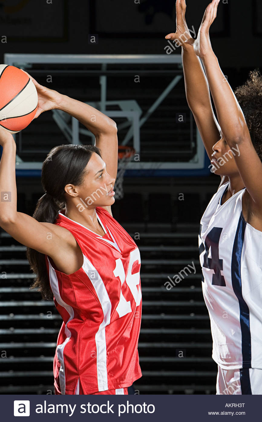 Female basketball players - Stock Image