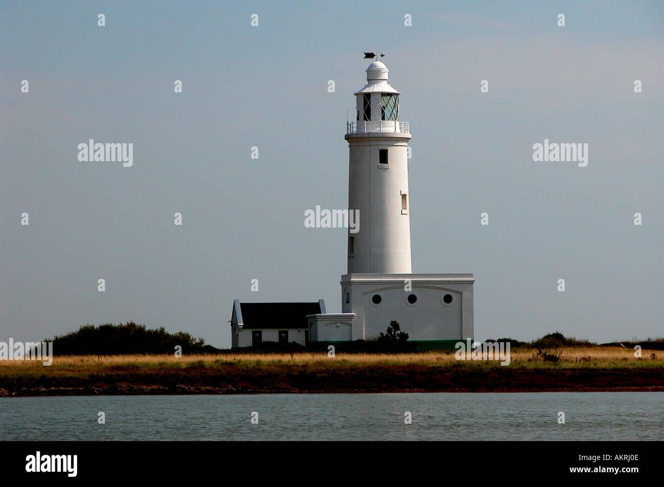Lighthouse Hurst Point England - Stock Image