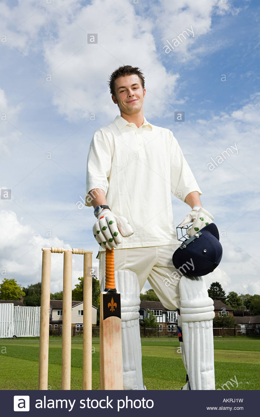 Portrait of a batter Stock Photo