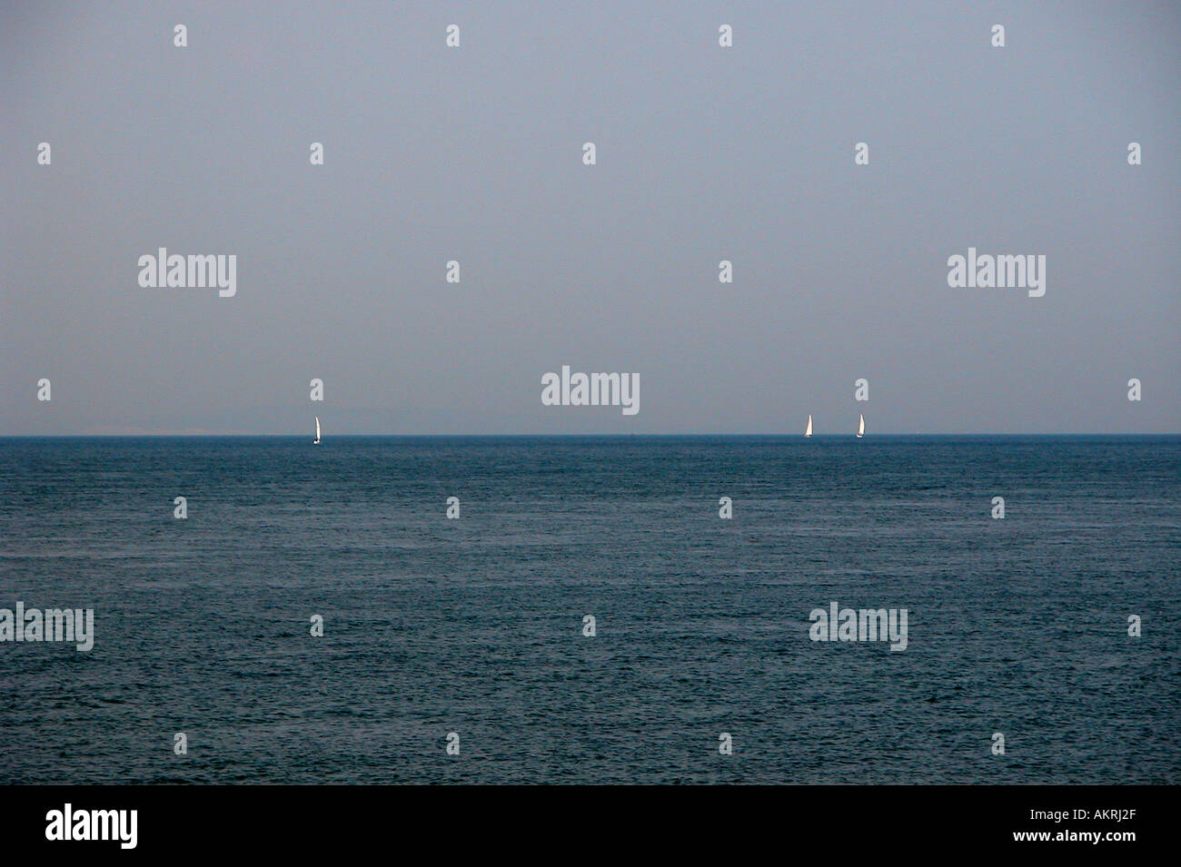 Sailing in Solent Dorset England - Stock Image