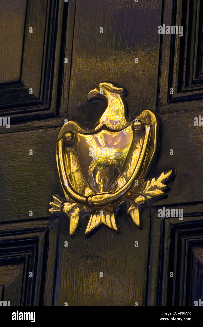 Awesome Brass Eagle Door Knocker On Beacon Hill House Boston Massachusetts United  States Of America USA